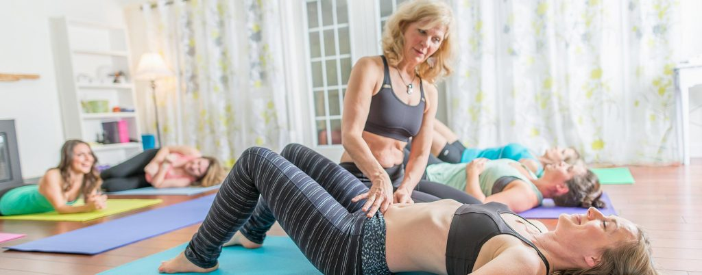 Cheryl working with a Pelvic Health Physiotherapy Client